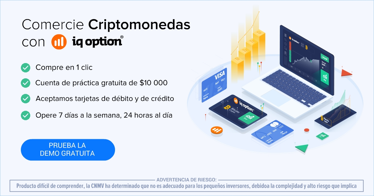 Invertir en criptomonedas iqoption