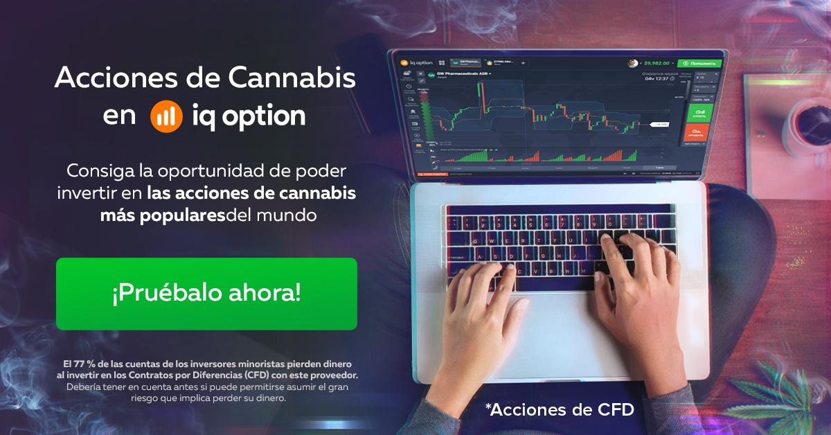 Invierte en marihuana en IQoption